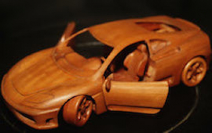 FERRARI 360 MODENA WOOD SCALE MODEL