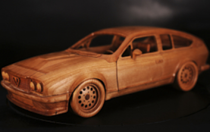 ALFA ROMEO 2500 GTV WOOD SCALE MODEL