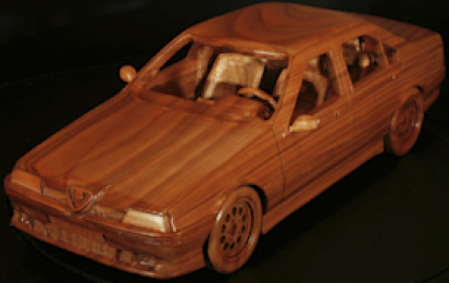 ALFA ROMEO 164 WOOD SCALE MODEL