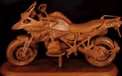 BMW R1200GS WOOD SCALE MODEL