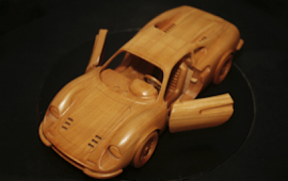 FERRARI DINO 246 GT WOOD SCALE MODEL
