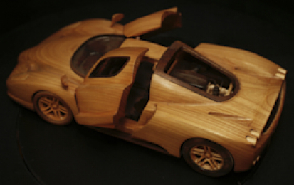 FERRARI ENZO WOOD SCALE MODEL