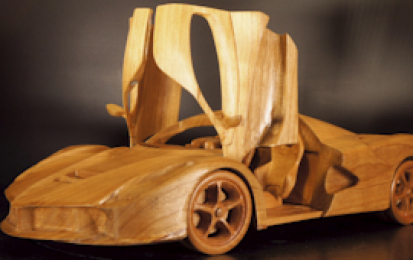 FERRARI LAFERRARI WOOD SCALE MODEL