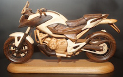 HONDA NC750X WOOD SCALE MODEL