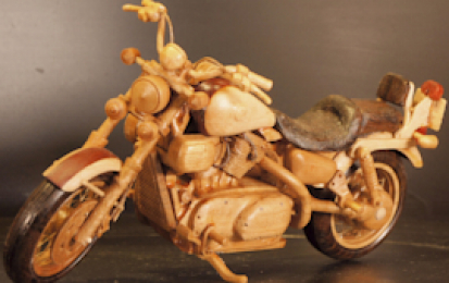 KAWASAKI VULCAN VN-15 WOOD SCALE MODEL