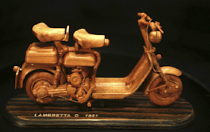 LAMBRETTA D 1951 WOOD SCALE MODEL
