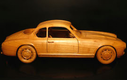 LANCIA FLAMINIA ZAGATO 2500 WOOD SCALE MODEL