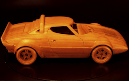 LANCIA STRATOS RALLY WOOD SCALE MODEL