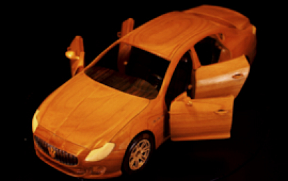 MASERATI QUATTROPORTE WOOD SCALE MODEL