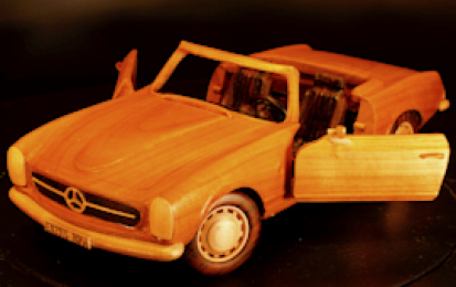 MERCEDES BENZ PAGODA 280SL WOOD SCALE MODEL
