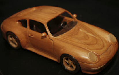 PORSCHE 911 CARRERA 993 WOOD SCALE MODEL