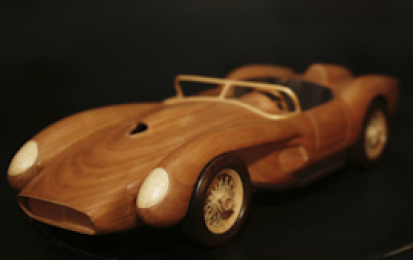 FERRARI 250 TESTAROSSA 1957 WOOD SCALE MODEL