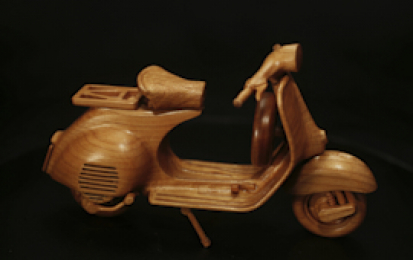 VESPA 125 1958 WOOD SCALE MODEL