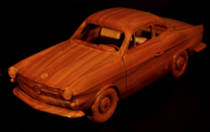 FIAT VIGNALE 750 GRANSPORT WOOD SCALE MODEL